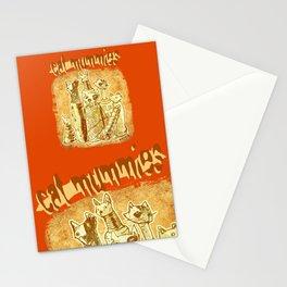 cat mummies Stationery Cards