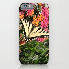 Swallowtail on Lantana iPhone Case
