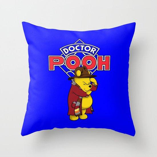 Doctor Pooh Throw Pillow