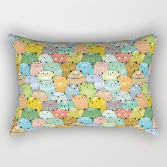 Catz Pattern Rectangular Pillow