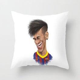 Neymar - Barcelona Throw Pillow