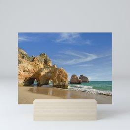 Algarve cliffs, Portugal Mini Art Print