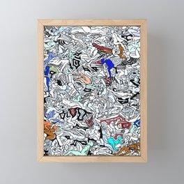 Retro Kamasutra LOVE Doodle  Framed Mini Art Print