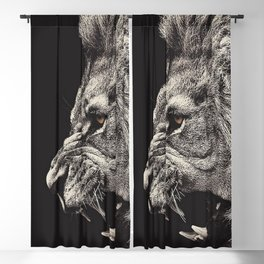 Angry Male Lion Blackout Curtain