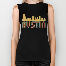 Vintage Style Austin Texas Skyline Biker Tank