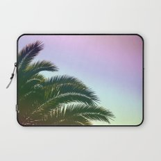 Palm Leaves  - Tropical Sky - Chilling Time Laptop Sleeve