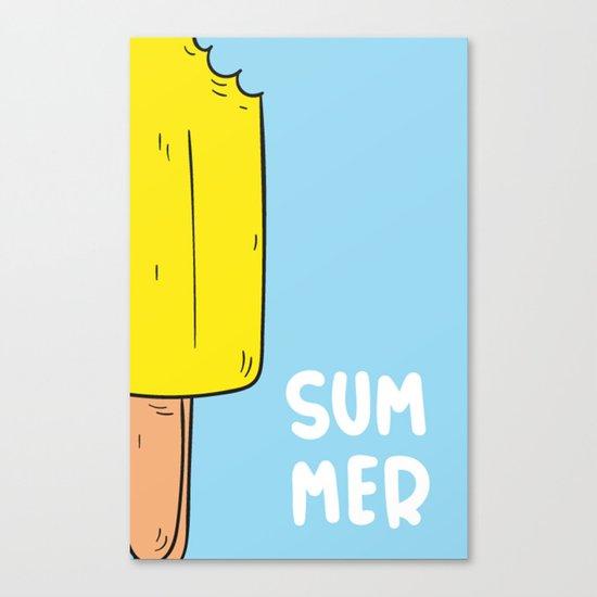 Ice cream gelado Canvas Print