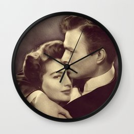 Ava Gardner and James Mason Wall Clock