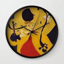 Art Dutch Interior III Joan Miro Wall Clock