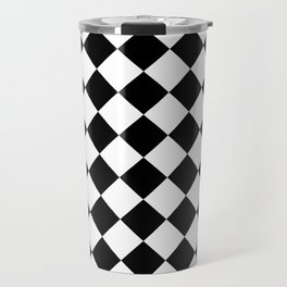Rhombus (Black & White Pattern) Travel Mug
