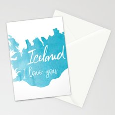 Iceland I love you - ice version Stationery Cards