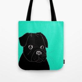 The Contemplative Pug. Tote Bag