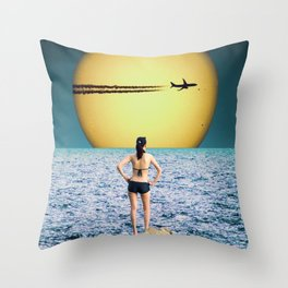 Say Goodbye Throw Pillow