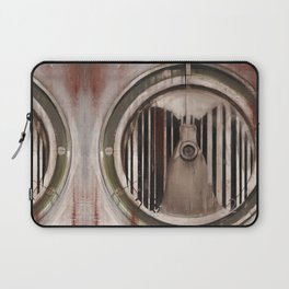 (Marlboro Red bar-code) silhouette of lungs against ball bearing  Laptop Sleeve