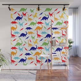 Colorful Dinosaurs Pattern Wall Mural