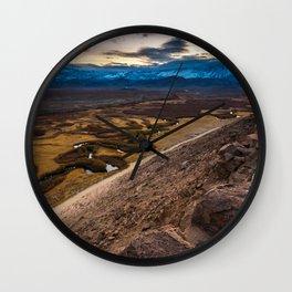 Owens River Floodplain At Sunset - Bishop - California Wall Clock