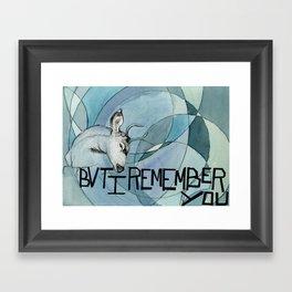 Remember you Framed Art Print