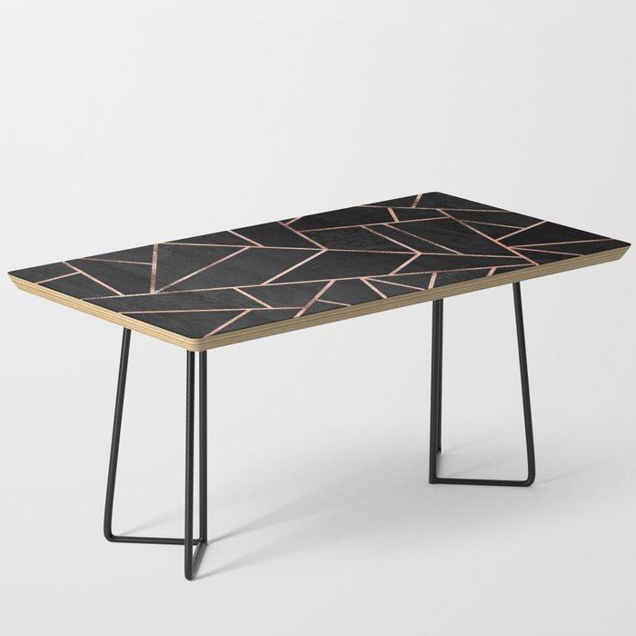 Velvet Black Rose Gold Coffee Table By Elisabethfredriksson