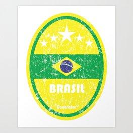 World Cup Football 1/8 - Brasil (Distressed) Art Print