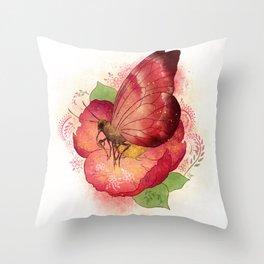 Pollinator Animals- Butterfly Throw Pillow