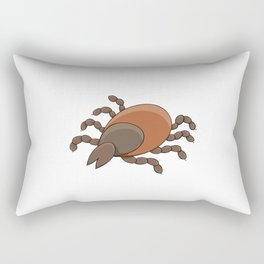 dangerous parasite - tick Rectangular Pillow