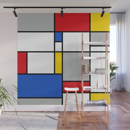 Mondrian Style Color Composition Wall Mural
