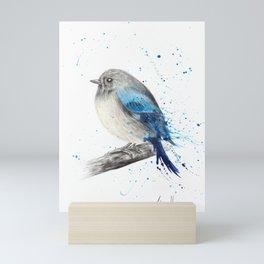 Round and Happy Bird Mini Art Print