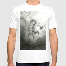 Fly Away White MEDIUM Mens Fitted Tee