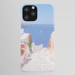 Santorini Greece Mamma Mia Pink Street iPhone Case