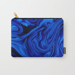 Blue Liquid Marbled texture Carry-All Pouch