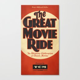 Great Movie Ride TCM Poster Canvas Print