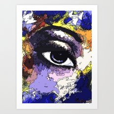 Title: Beautiful Eye - Digital Silk screen Version Art Print