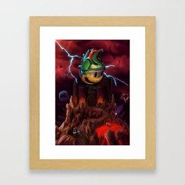The Dystopian King (Bowser) Framed Art Print
