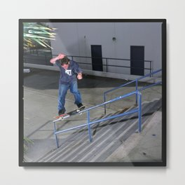 Bjorn Johnston | Skateboard | Switch Fs Feeble Handrail Metal Print