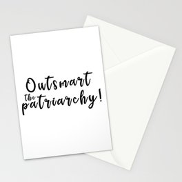 Outsmart the Patriarchy Stationery Cards