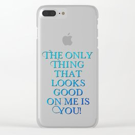 Touch me #4 - Towels & more Clear iPhone Case