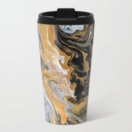 Gold Vein Marble Metal Travel Mug