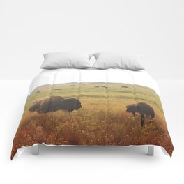 WHERE THE BUFFALO ROAM Comforters