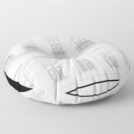 Brazil Facade Floor Pillow