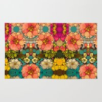 discount Area & Throw Rugs featuring Perky Flowers! by Love2Snap