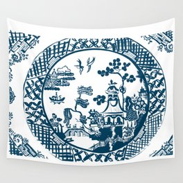 Classic Blue Willow Wall Tapestry