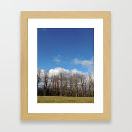 Blue Lined Skies Framed Art Print