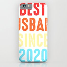 Husband Gift Best Since2020 Marriage Groom Present iPhone Case