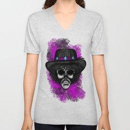 Hendrix Style Errorface skull Unisex V-Neck