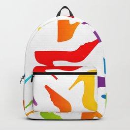 Colorful Womens heels Backpack