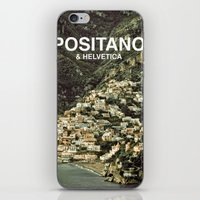 helvetica iPhone & iPod Skins featuring Positano & Helvetica by woo made it
