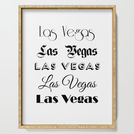 Las Vegas City Quote Sign, Digital Download, Calligraphy Text Art, World City Typography Print Serving Tray