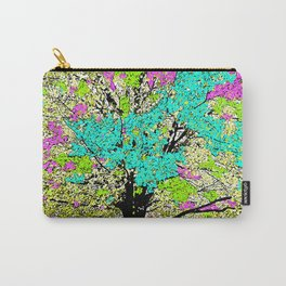TREES PINK AND GREEN ABSTRACT Carry-All Pouch