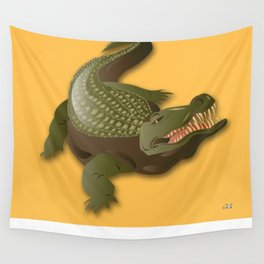 Crocodile - 'A Fantastic Journey' Wall Tapestry