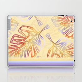 Autumn Leaves with trim on Buttercream - from the Lilac Buttercup colour palette collecti Laptop & iPad Skin